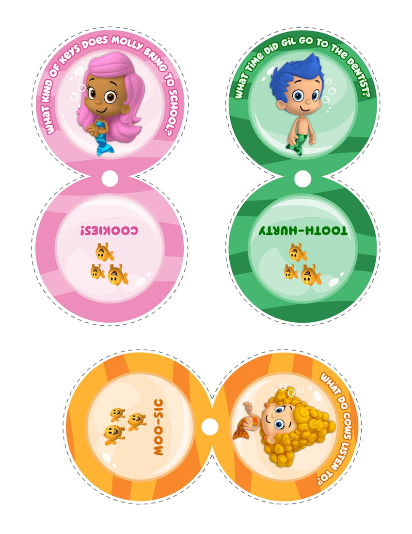 Bubble Guppies Riddle Templates